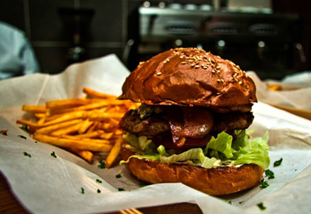 Burger and fries at Jerry's Burger Bar in Observatory. Photo courtesy of the restaurant