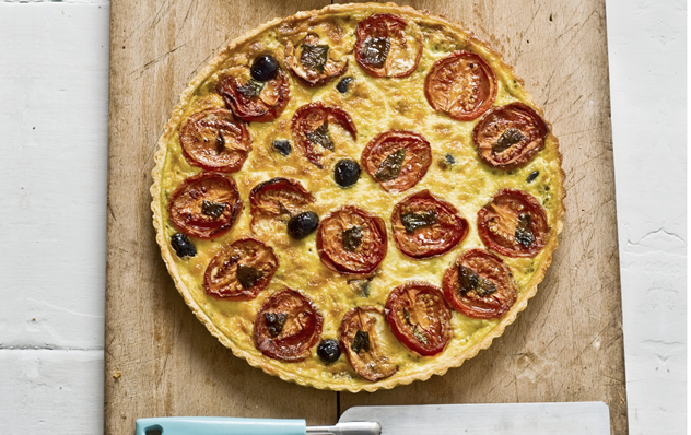 Slow-roasted tomato and gruyère tart