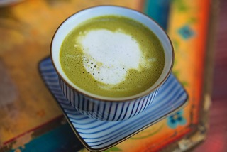 A matcha flat white from Lady Bonin's in Cape Town. Photo courtesy of the store.