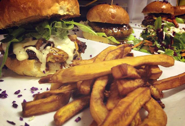 Burgers at Royale Eatery. Photo courtesy of the restaurant