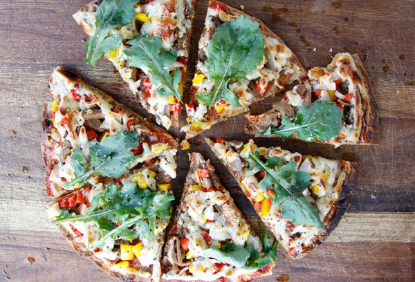 A spelt pizza at Leafy Greens. Photo courtesy of the restaurant.