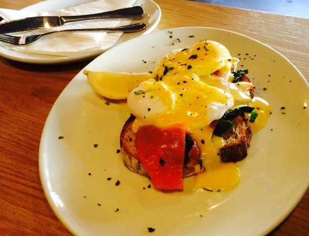 Breakfast at Bootlegger Coffee Company. Photo courtesy of the restaurant.