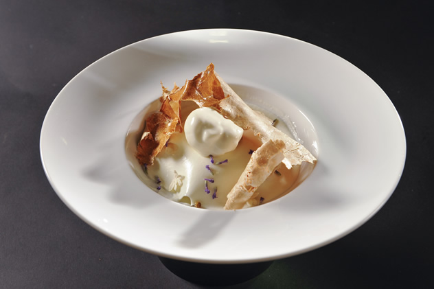 The dish created by Angelo Scirocco at The S. Pellegrino Young Chef awards in Milan