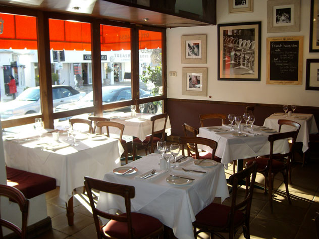 The interior at Bistro Vine. Photo courtesy of the restaurant.