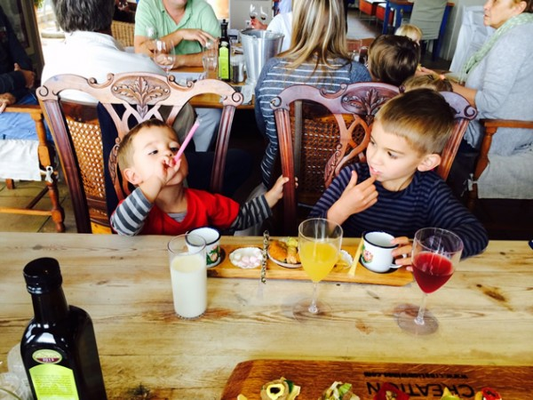 A kiddies' tasting at Creation Wines. Photo supplied.