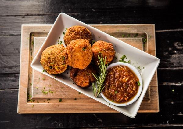 Dropkick Murphy's mac 'n cheese balls. photo courtesy of the restaurant.