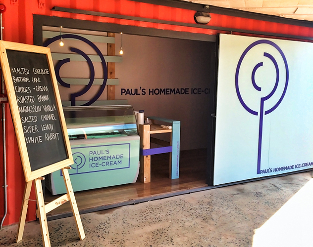 The new store for Paul's Homemade Ice Cream at 27 Boxes in Melville
