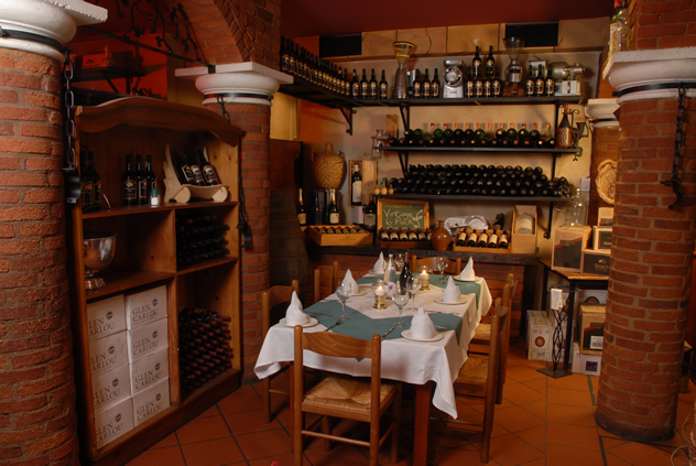 The interior at Caraffa Restaurant. Photo courtesy of the restaurant.