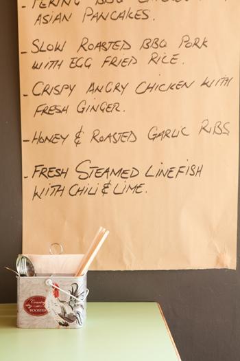 The menu. Photo by Jan Ras.