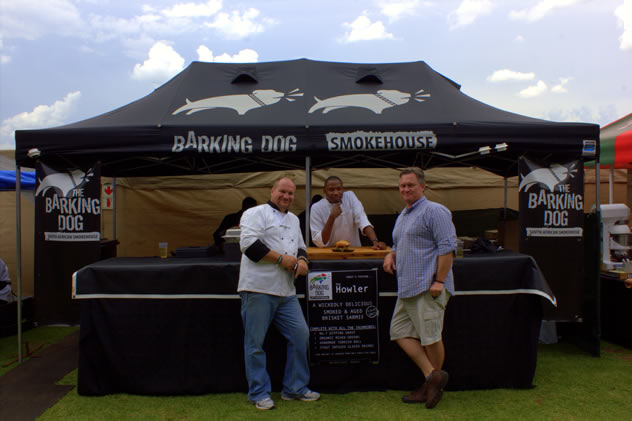 Barking Dog smokehouse set up at The Consol Craft Revolution. Photo courtesy of the organisers.