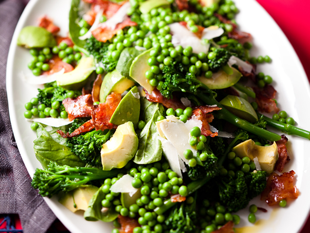 Broccoli, avo and bacon salad