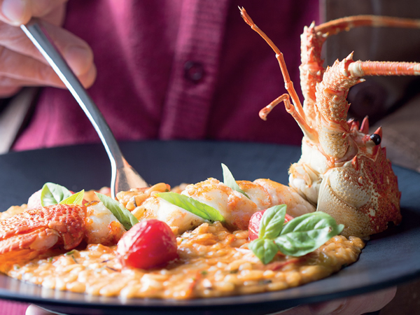 Crayfish and smoked tomato risotto at Jordan. Photo courtesy of restaurant.