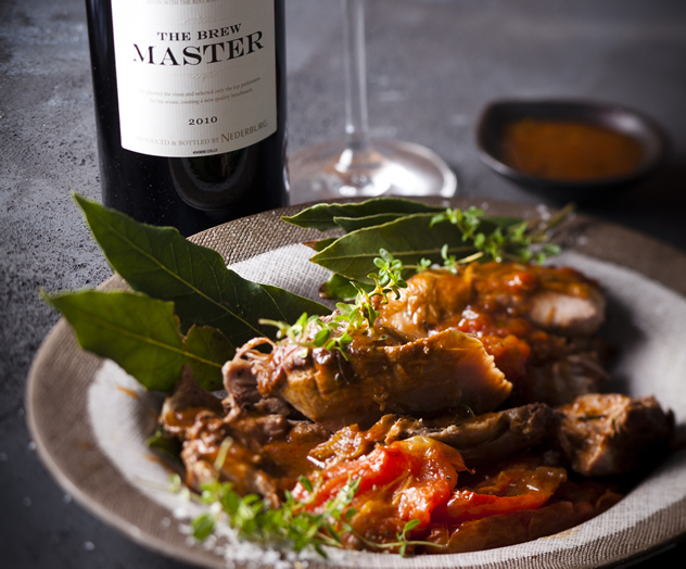 Slow-roasted lamb with balsamic tomatoes. Photo courtesy of Jan Ras.