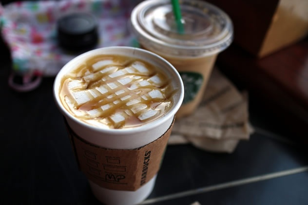 Starbucks maple latte. Photo by Elsie Hui.
