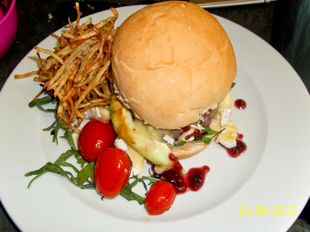 A burger at Posh, The Eatery. Photo courtesy of the restaurant.