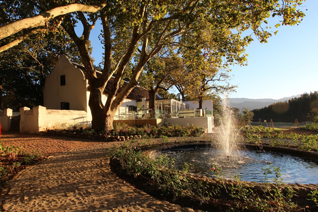 The outsite at The Werf at Boschendal. Photo courtesy of the Boschendal.