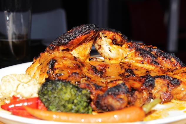 Fireside Bistro's deboned peri chicken. Photo courtesy of the restaurant.