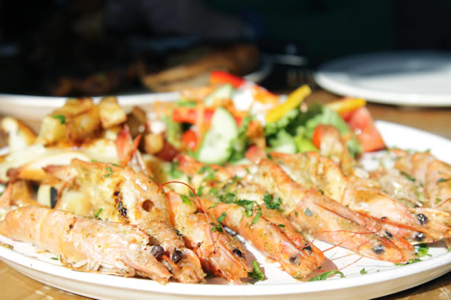 Fireside Bistro's grilled prawns. Photo courtesy of the restaurant.