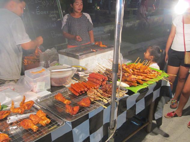Grilled skewers in Koh Samui