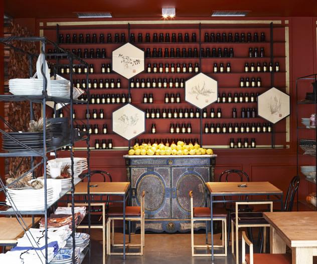 The wine rack at Hemelhuijs Restaurant. Photo courtesy of the restaurant.