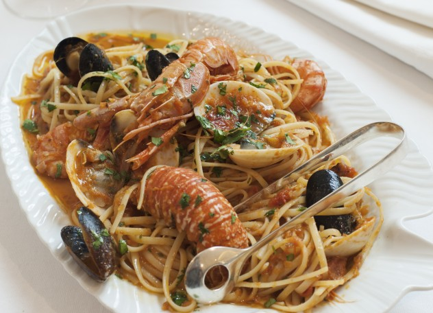 Seafood pasta at tashas le parc. Photo courtesy of the restaurant.