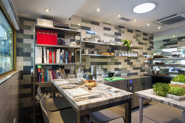 The kitchen at Makaron. Photo courtesy of the restaurant.