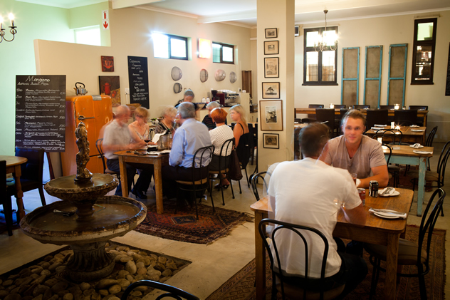 The interior at Mangiamo @ Wickerwoods. Photo courtesy of the restaurant.