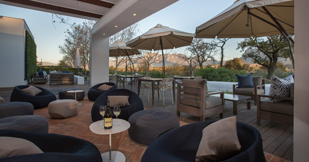 An outside view at Rupert & Rothschild Vignerons. Photo courtesy of the restaurant.