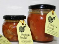 Stanley's Snails in jars
