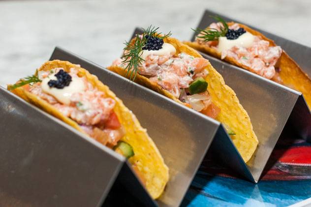 The tacos at The Oyster Bar. Photo courtesy of restaurant.
