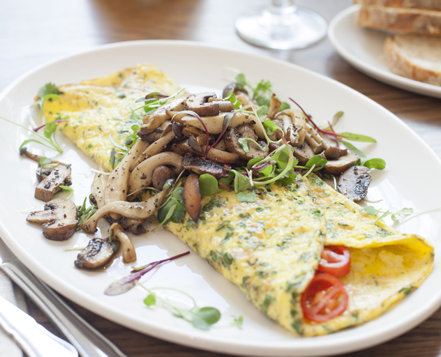 A mushroom omelette at tashas le parc. Photo courtesy of the restaurant.