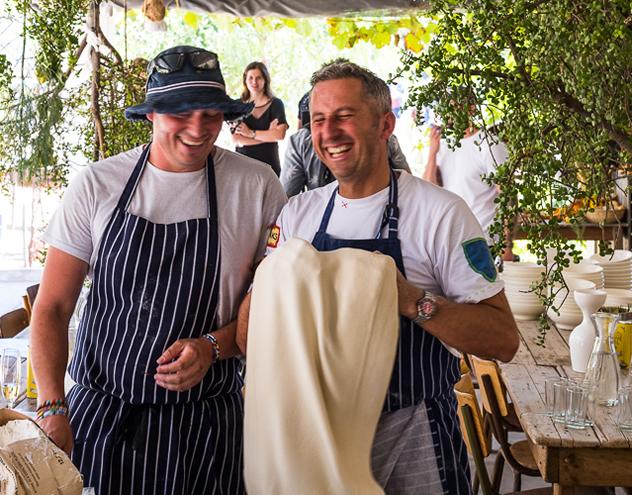 Chefs at the Winter Convivium Fundraiser.