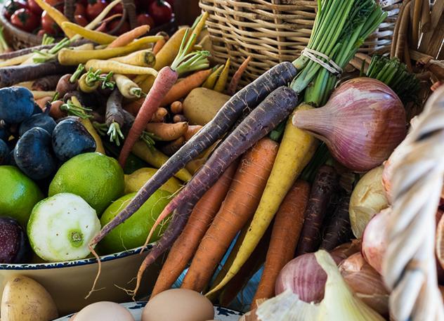 Fresh produce at the Winter Convivium Fundraiser.
