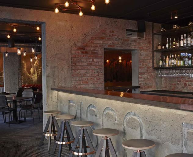 The bar at Charango. Photo courtesy of the restaurant.