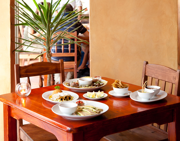 Food on a table at San Julian. Photo courtesy of the restaurant.
