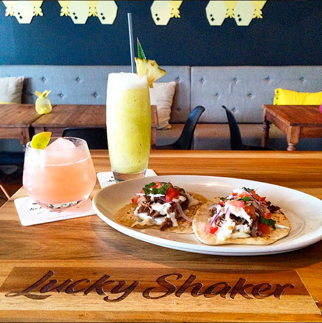 The tacos at Lucky Shaker. Photo courtesy of the restaurant.