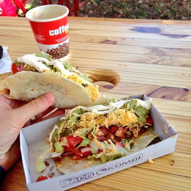 Tacos from the Taco Kombi. Photo courtesy of the restauant.