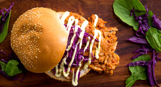 A pulled pork burger. Photo courtesy of the restaurant.