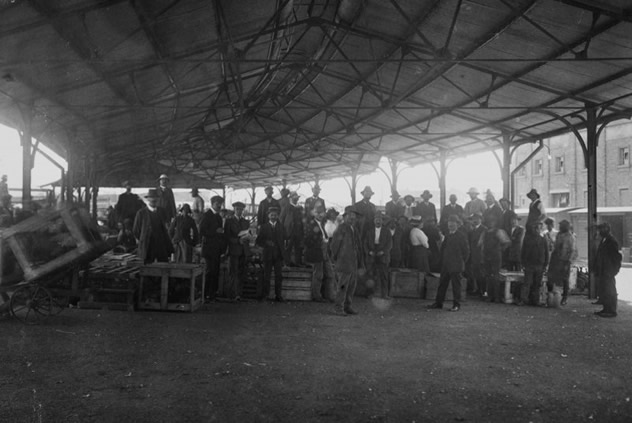 Historical shot of potato shed. Photo courtesy of the restaurant.