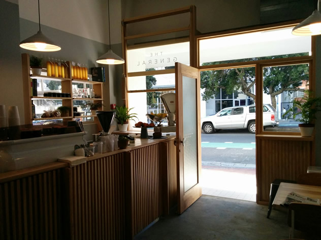 A view of the street at The General Store in Bree Street. Photo courtesy of the restaurant.