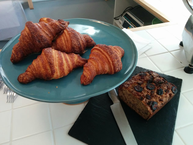 A plate with croissants at The General Store in Bree Street. Photo courtesy of the restaurant.