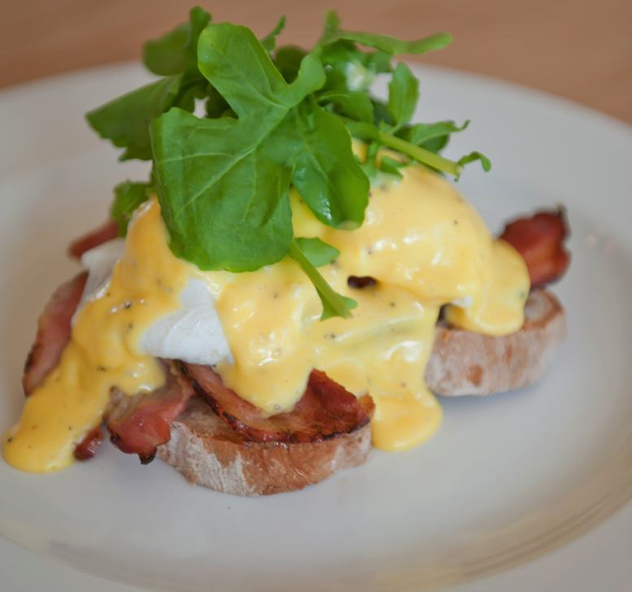 The eggs Benedict at The Millhouse Kitchen