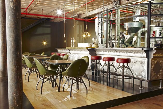 The steampunk interior at Truth Coffee Roasting HQ. Photo courtesy of Mickey Hoyle and Haldane Martin.