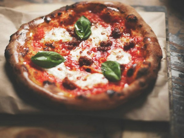 A pizza from Pizza Piaggio. Photo courtesy of the food truck.