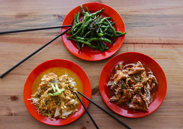 Three dishes at Emma Chen's PRON. Photo by Rupesh Kassen.