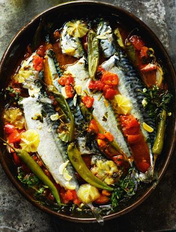 Rick's Mesut's blue fish stew