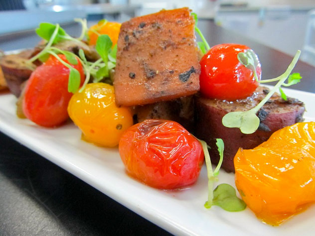 The roast vegetable salad at The Nook
