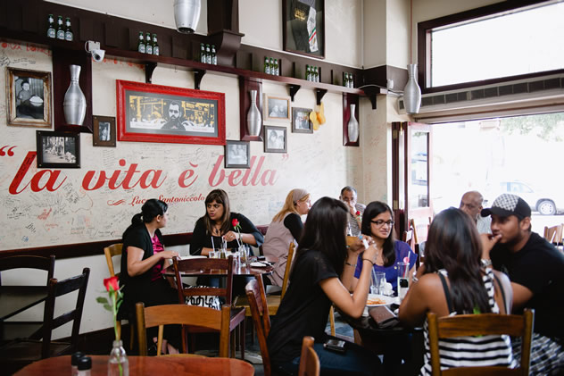 People enjoying a meal at Spiga D'Oro. Photo courtesy of the restaurant.