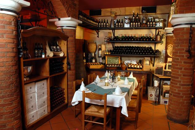 The wine selection at Caraffa Ristorante. Photo courtesy of the restaurant.
