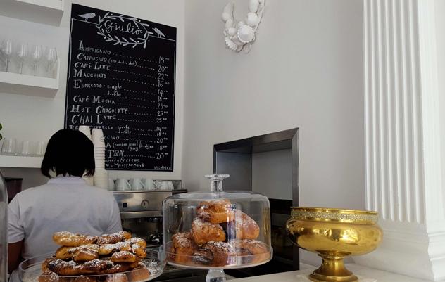 The pastries at Giulio's Café. Photo courtesy of Nikita Buxton.